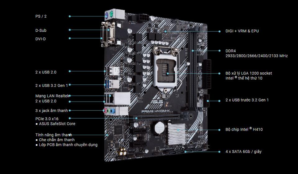 Mainboard Asus H410M-K Prime