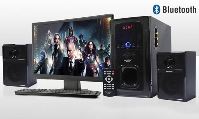 Loa vi tính Soundmax A2123 sử dụng hệ thống loa 2.1 công suất 60W
