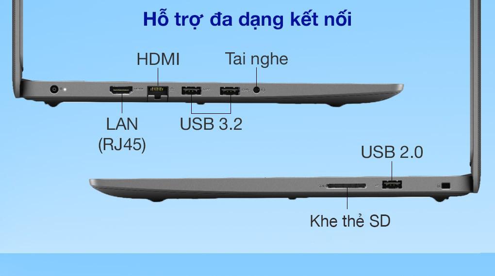 Dell Vostro 3405 R5 3500U (V4R53500U001W) - Cổng kết nối