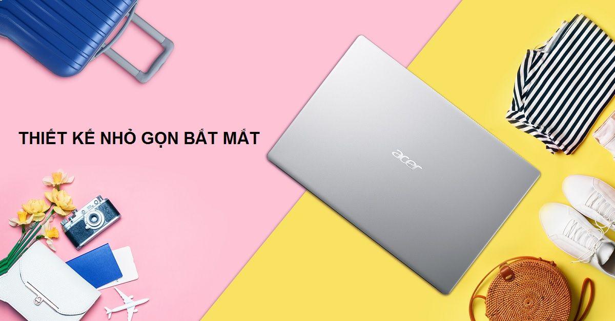 Acer Aspire 3 A315-56-34AY có thiết kế nhỏ gọn bắt mắt